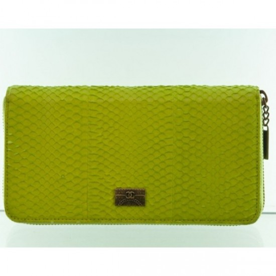 chanel 2012 fluorescent yellow snake wallets womens chanel wallet long gold-Best of 2012 Women Wallet with a Modern Design and Good Quality By Chanel