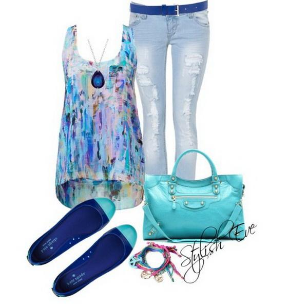 مدل آبی تابستانی برای زنان 2014, مدل لباس تابستانی مدرن 2014